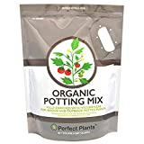 Organic Potting Mix by Perfect Plants for All Plant Types - 8qts for Indoor and Outdoor Use, Great for Veggies, Herbs, and Cannabis Plants