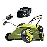 Sun Joe MJ401C-XR 14-Inch 28V 5 Ah Cordless Lawn Mower w/Brushless Motor, Green