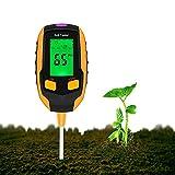 Justmetr [2021 Upgrade] Soil PH Meter, 4-in-1 Soil Tester Moisture, Digital Plant Thermometer Test, Moisture Meter Light and PH Tester for Potted Plants, Gardens, Lawns2