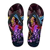 7REND Custom Flip Flops My Little Pony Twilight Magic Tara Strong Thong Sandals Beach Slippers for Women Men Daily Indoor Outdoor Activities Black