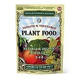 The Old Farmer's Almanac 2.25 lb. Organic Tomato & Vegetable Plant Food Fertilizer, Covers 250 sq. ft. (1 Bag)